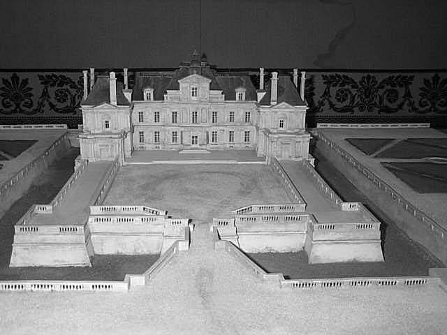 Maquette du château de Maisons-Laffitte selon les plans de François Mansart