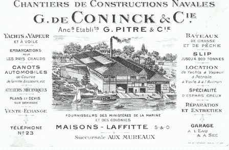 Maisons-Laffitte chantier naval De Coninck