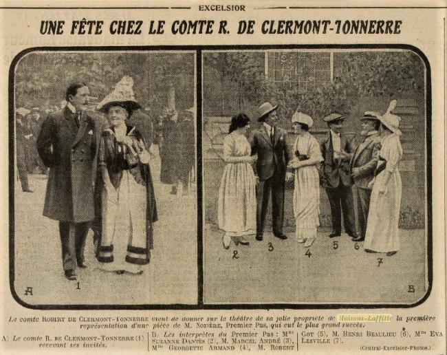 """Image """"l'Excelsior"""" du 6 juillet 1914"""