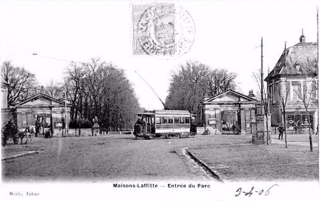 le tramway à Maisons-Laffitte