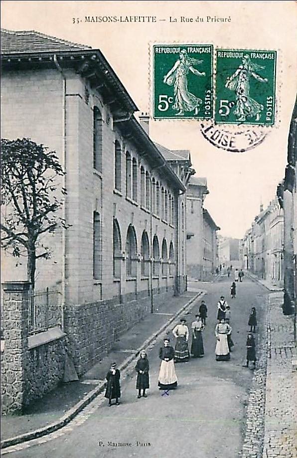 Maisons-Laffitte, rue du Prieuré, les écoles