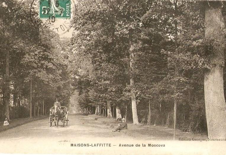 Maisons-Laffitte, avenue de la Moscova en 1916