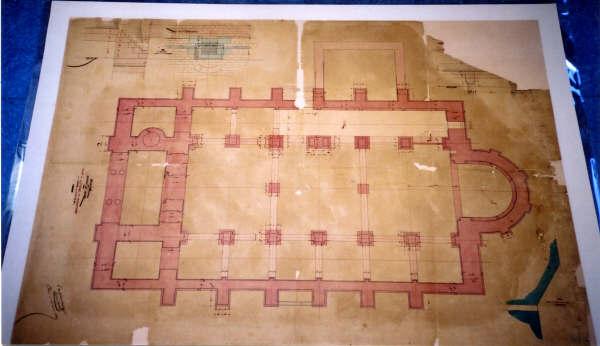 Plan de la nouvelle église, Photo Béatrice Vivien