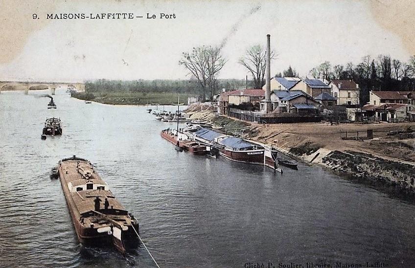 maisons-laffitte, le port avec des bateaux à quai