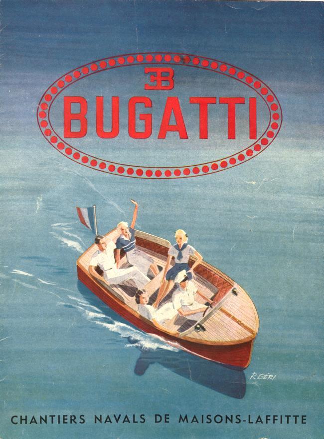 Bateau construit par Ettore BUGATTI à Maisons-Laffitte