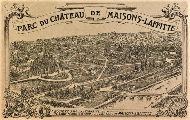 maisons-laffitte plan du parc de Maisons-Laffitte