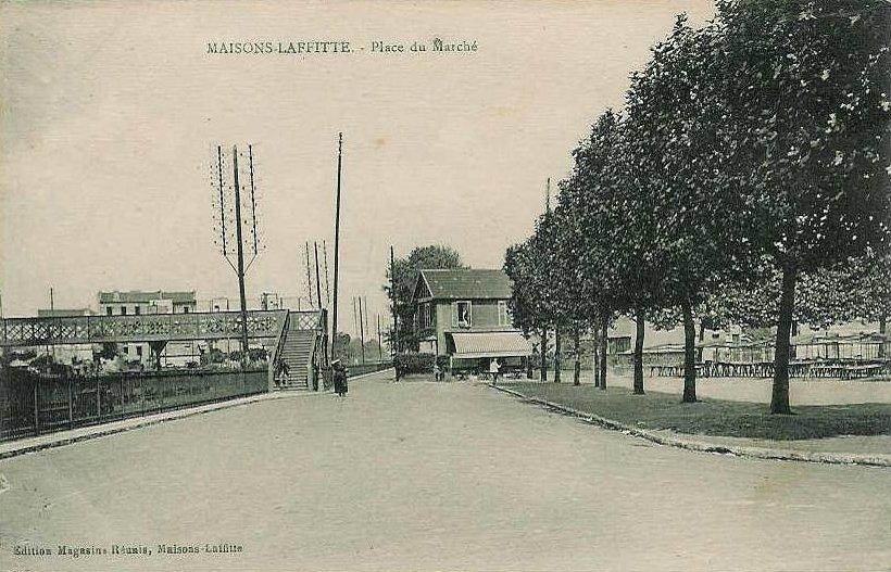 Place du marché à Maisons-Laffitte