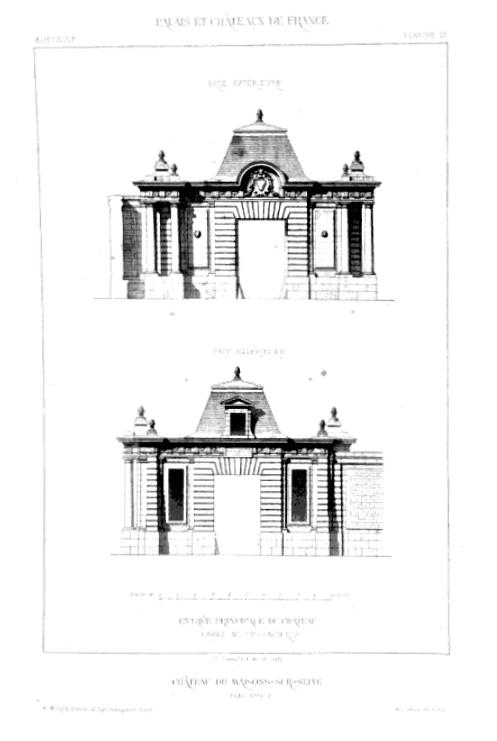 Image: Palais, Chateaux, Hôtels et Maisons du XVème au XVIIIème, Claude Sauvageot 1867