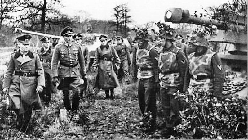 Inspection du Baukommando par Rommel le 11 janvier 1944 à Maisons-Laffitte