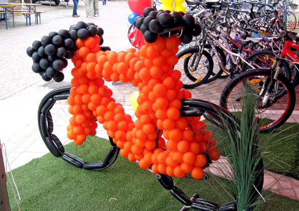 Ballonfahrrad für Aktion bei Renz-Radsport Bräunlingen