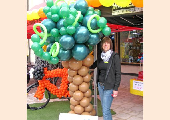 Mit Ballonbaum und Ballonfahrrad zu Gast bei Renz Radsport Bräunlingen
