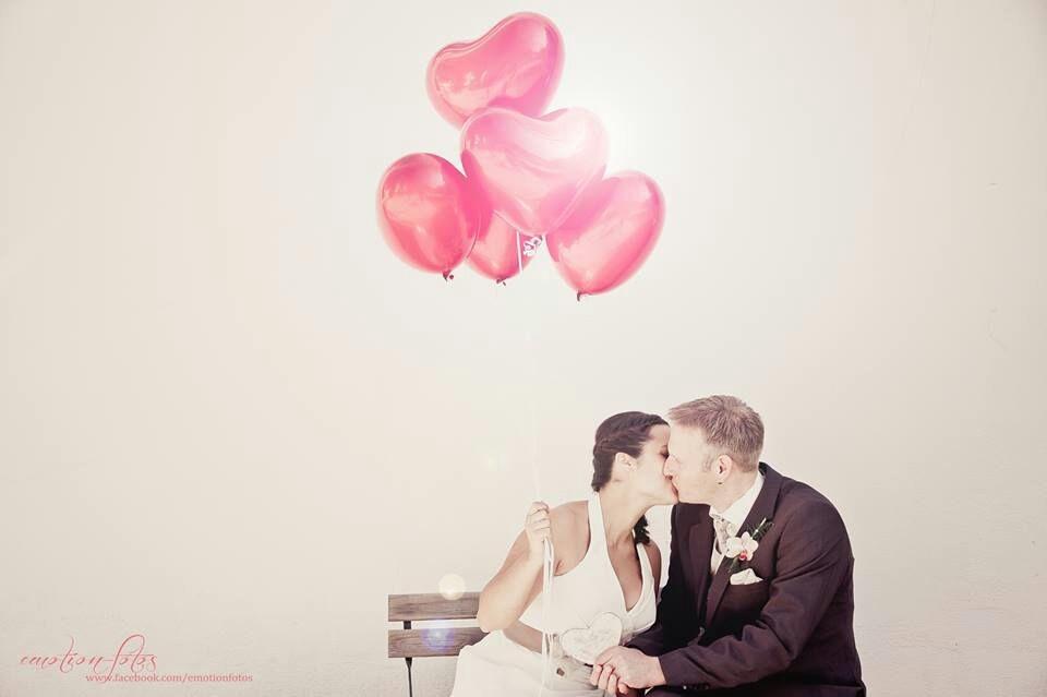 Heliumherzen für süße Hochzeitsfotos (ab 2,30 €)