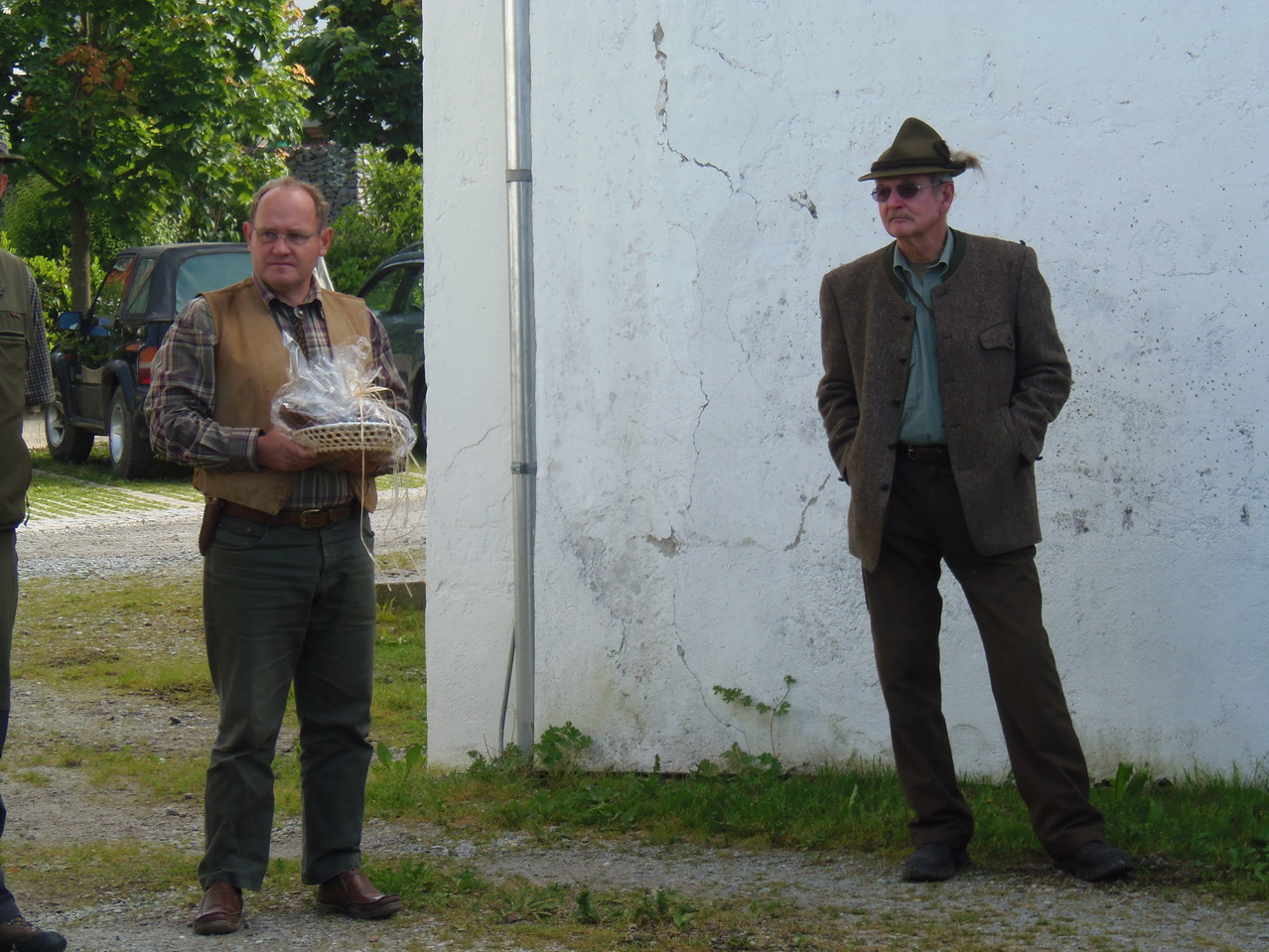 Jagdleiter Erhart Martin und Leistungsrichter Dr. Robert Kaserer