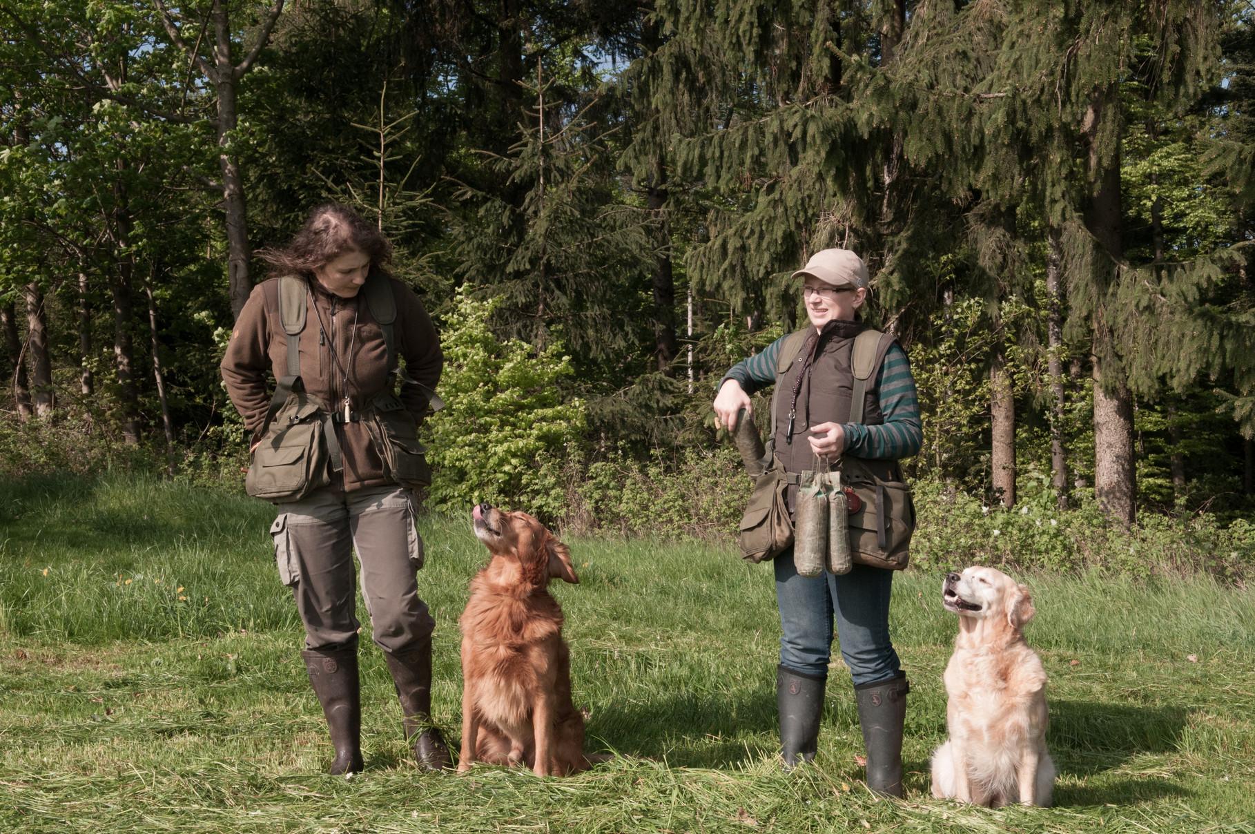 Sonja mit Bandit und Ich mit Elly