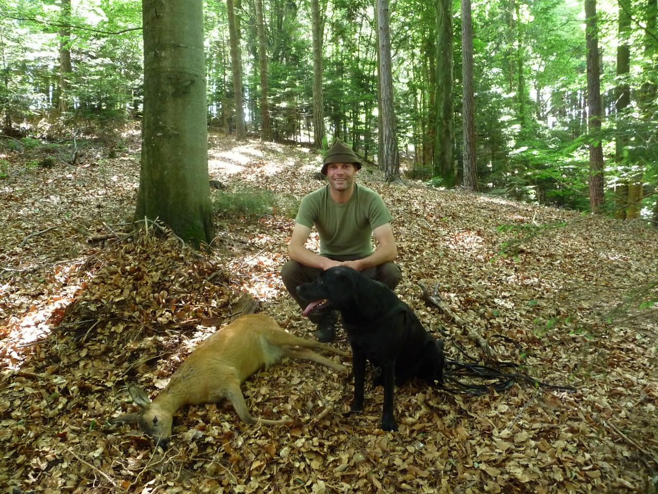 Unser Sieger Alexander MIt seinem Hund beim Stück
