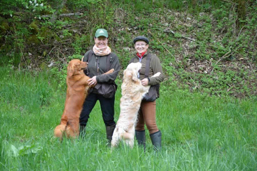 Margarete mit Effi und Ich mit Elly