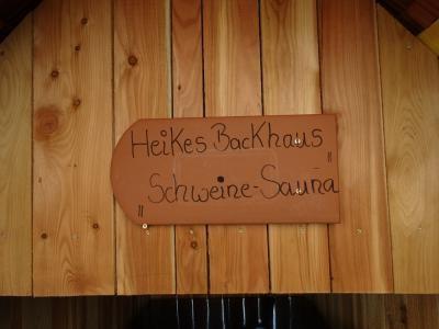 Schweine Sauna!!