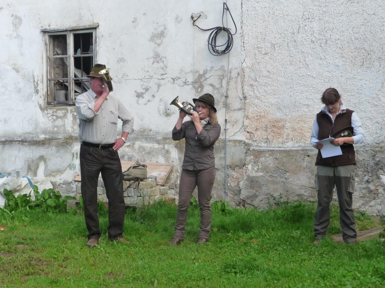 Margarete und Hebert unser Jagdhornbläser