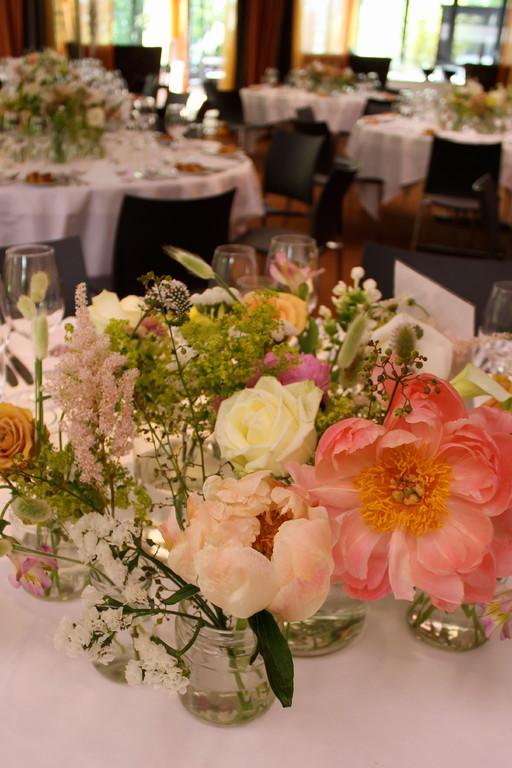 Tischdekoration Hochzeit  |  Hotel Seerose Meisterschwanden