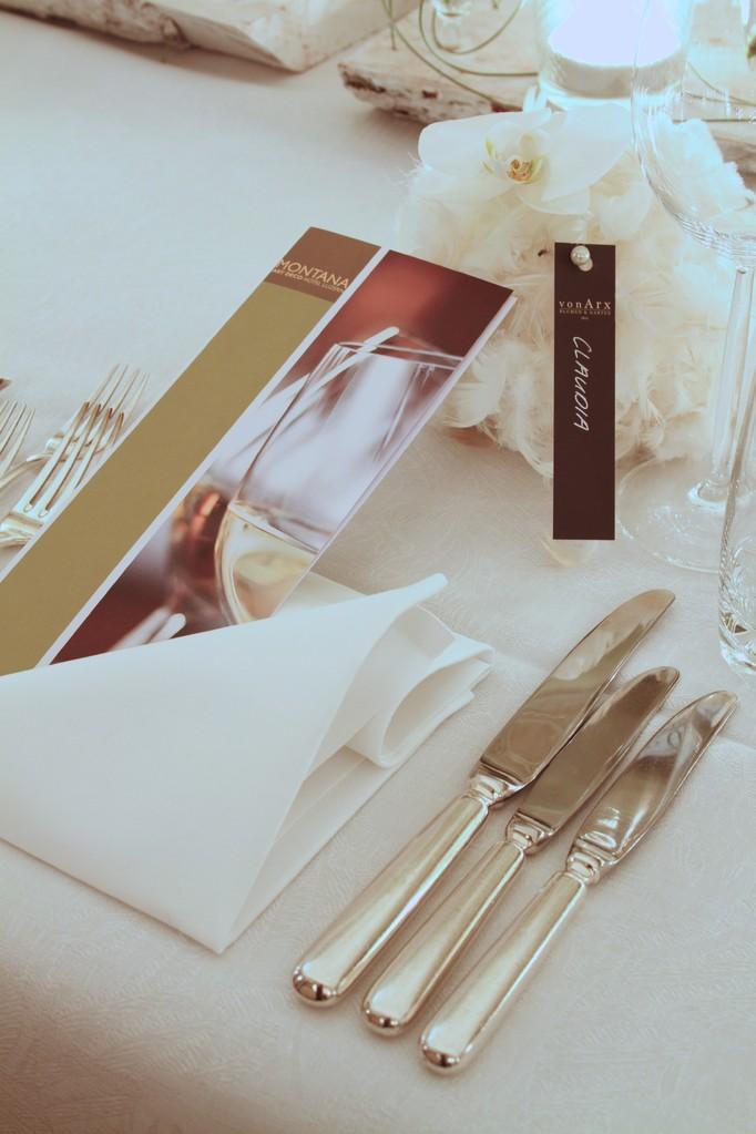 Tischdekoration  |  Hotel Montana Luzern