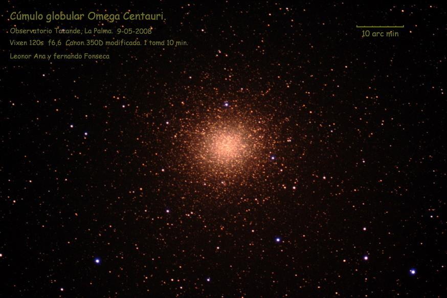 Omega Centauri, desde Tacande