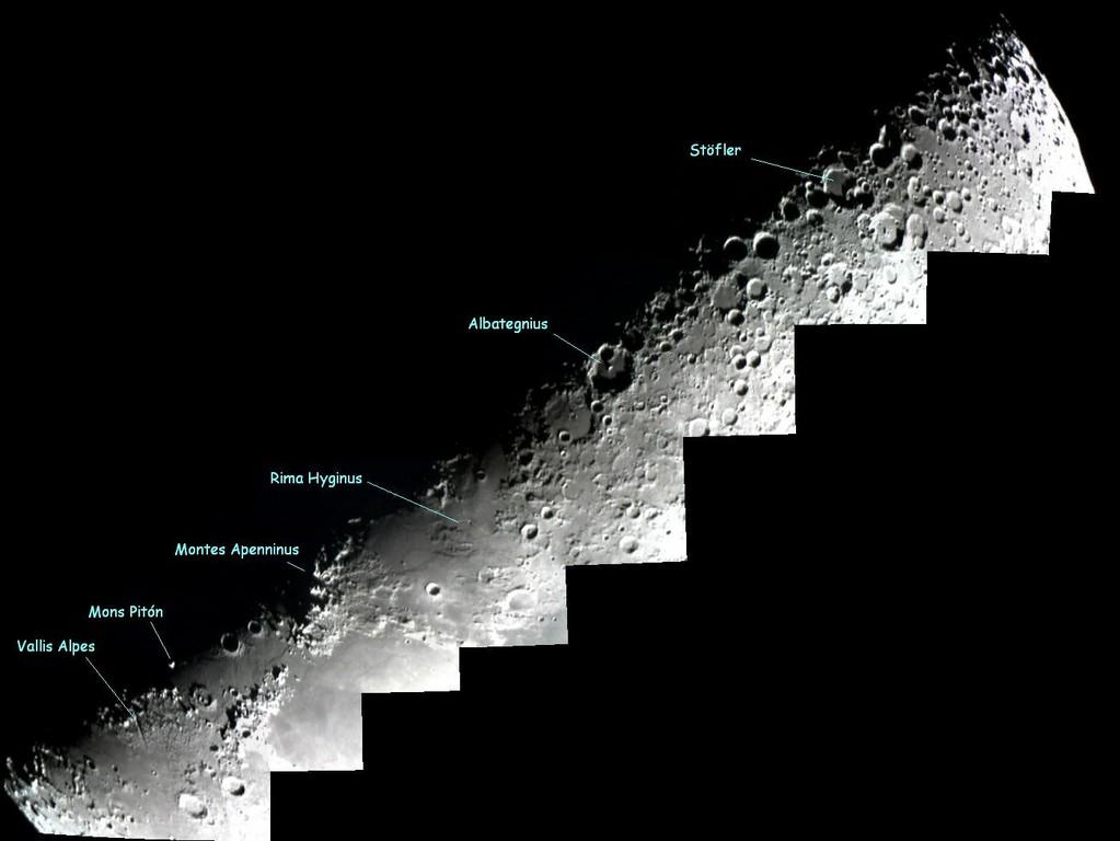 Terminador lunar con Toucam