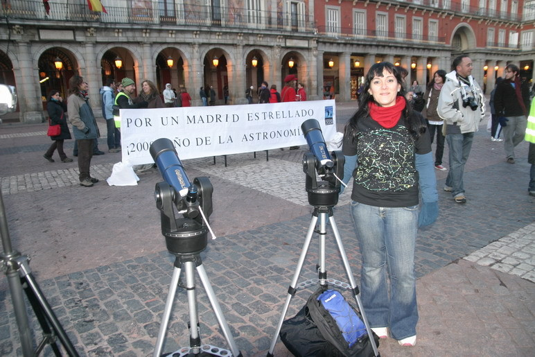 Concentración de telescopios en Madrid, enero 2009