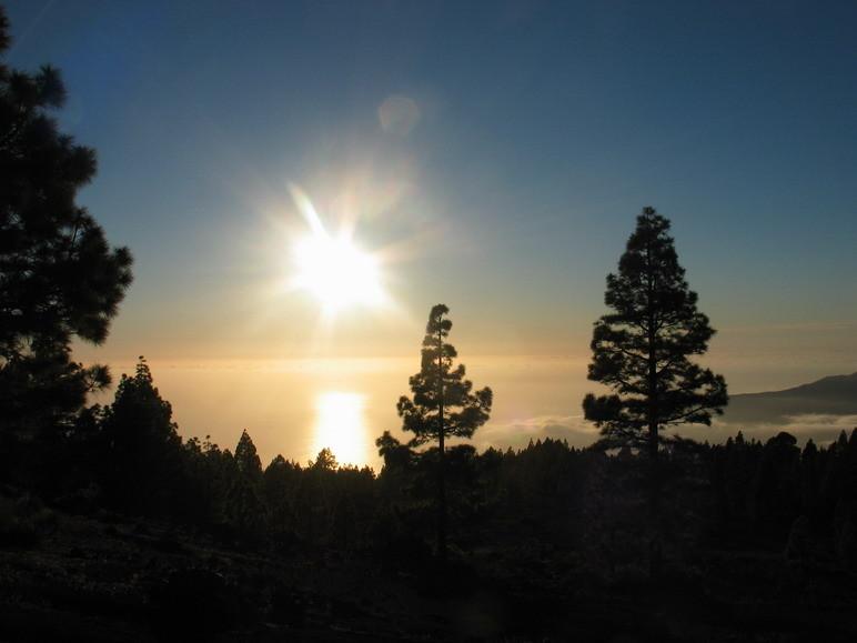 Puesta de sol desde El Paso, La Palma