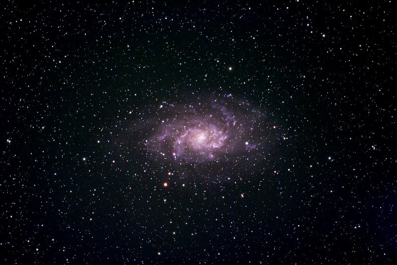 """M33 desde el Alto Rey """"Q"""""""