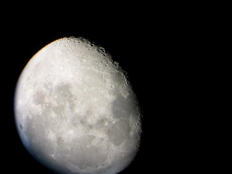 Luna en afocal con cánon G3 compacta