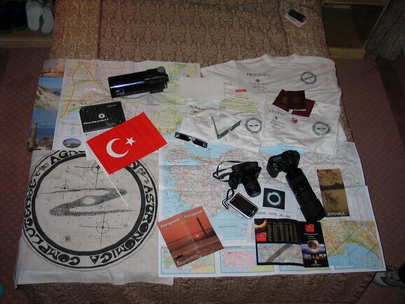 Expedición a Turquía, eclipse de Sol