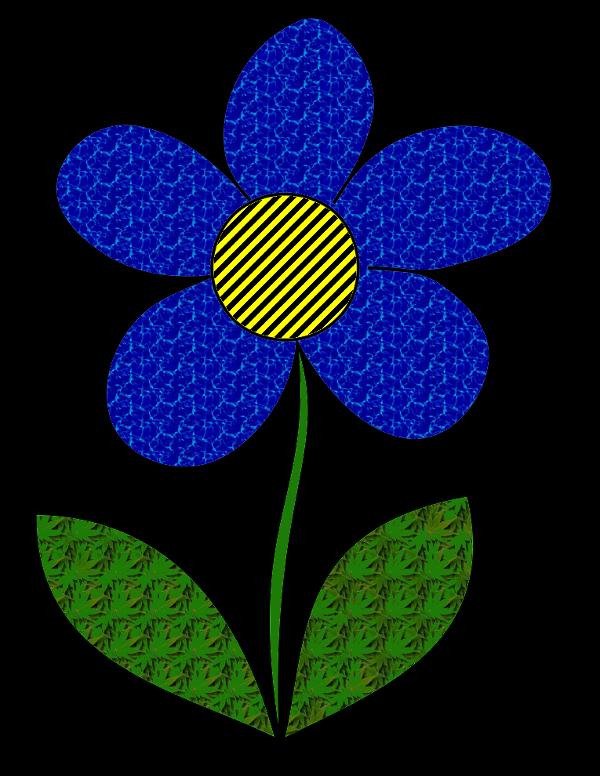 Blume eingefärbt