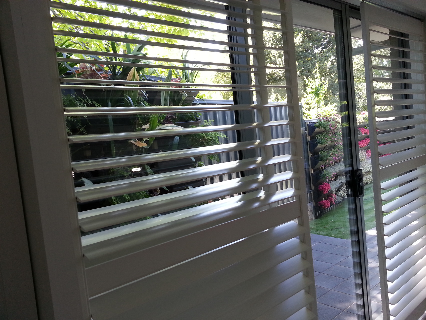 Shutters in Sliding door