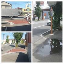 道路改良(舗装、カーブミラーの設置)