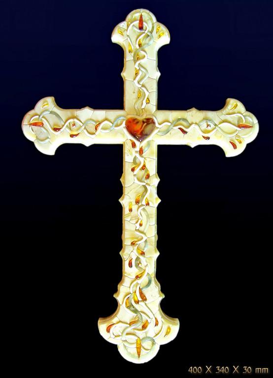 Настенный Крест. 2009.Выставлен в Музее янтаря г.Гданьска
