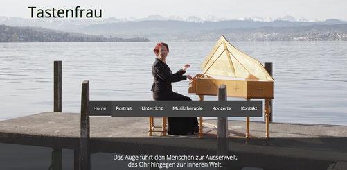Ansicht der Homepage
