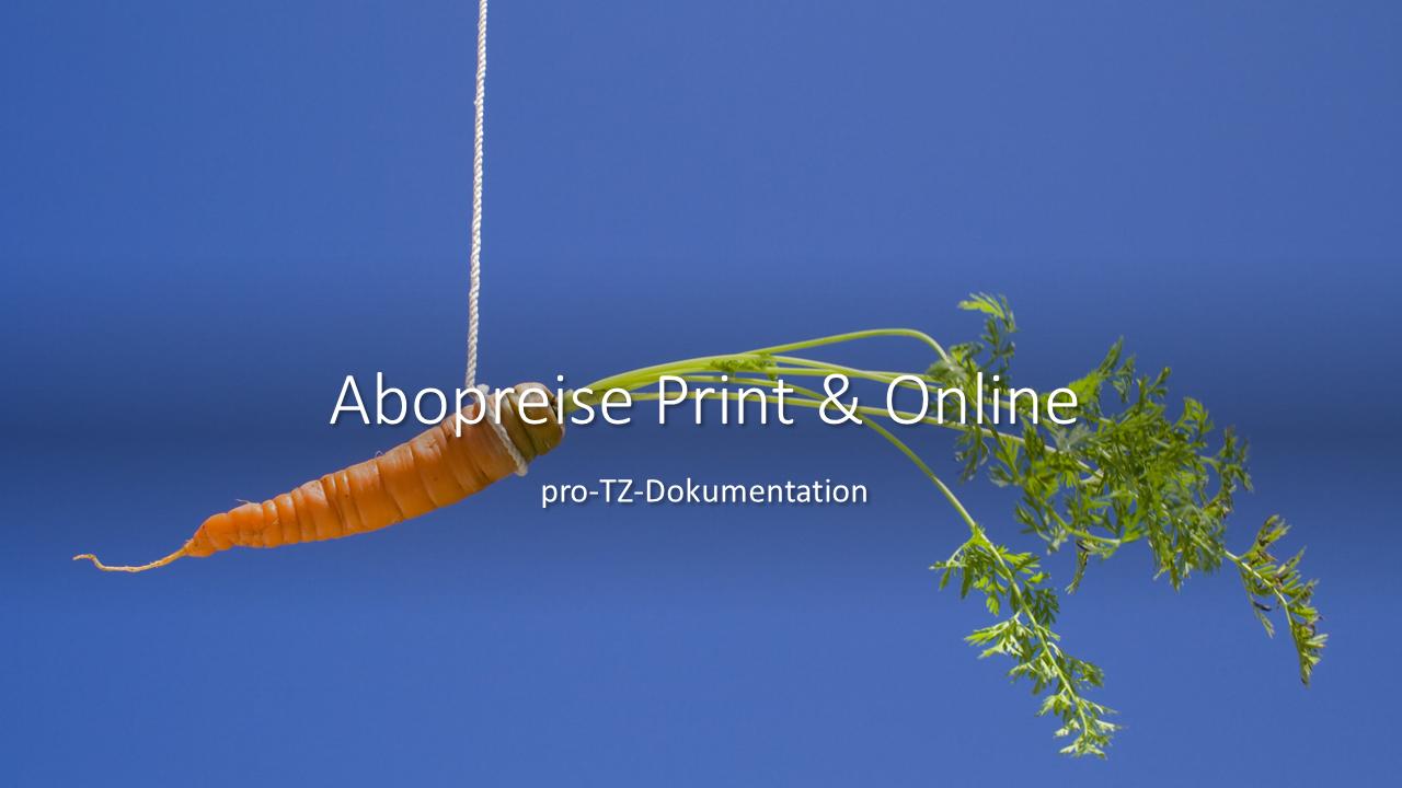 Abopreise Print & Online beim Monatstreffen Vertriebsmarketing