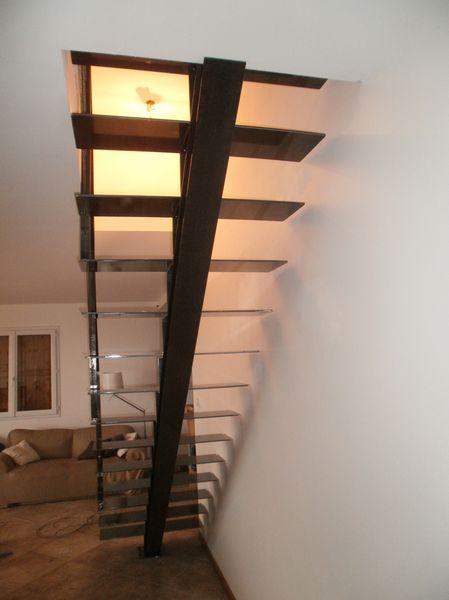 L'escalier métal est la plupart du temps choisi pour sa composante esthétique