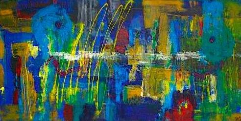 """Wilder Dialog"" 2008 - 50 x 100 cm (verkauft)"