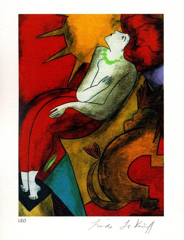 Leo - Lithography - 1983 - Linda Le Kinff