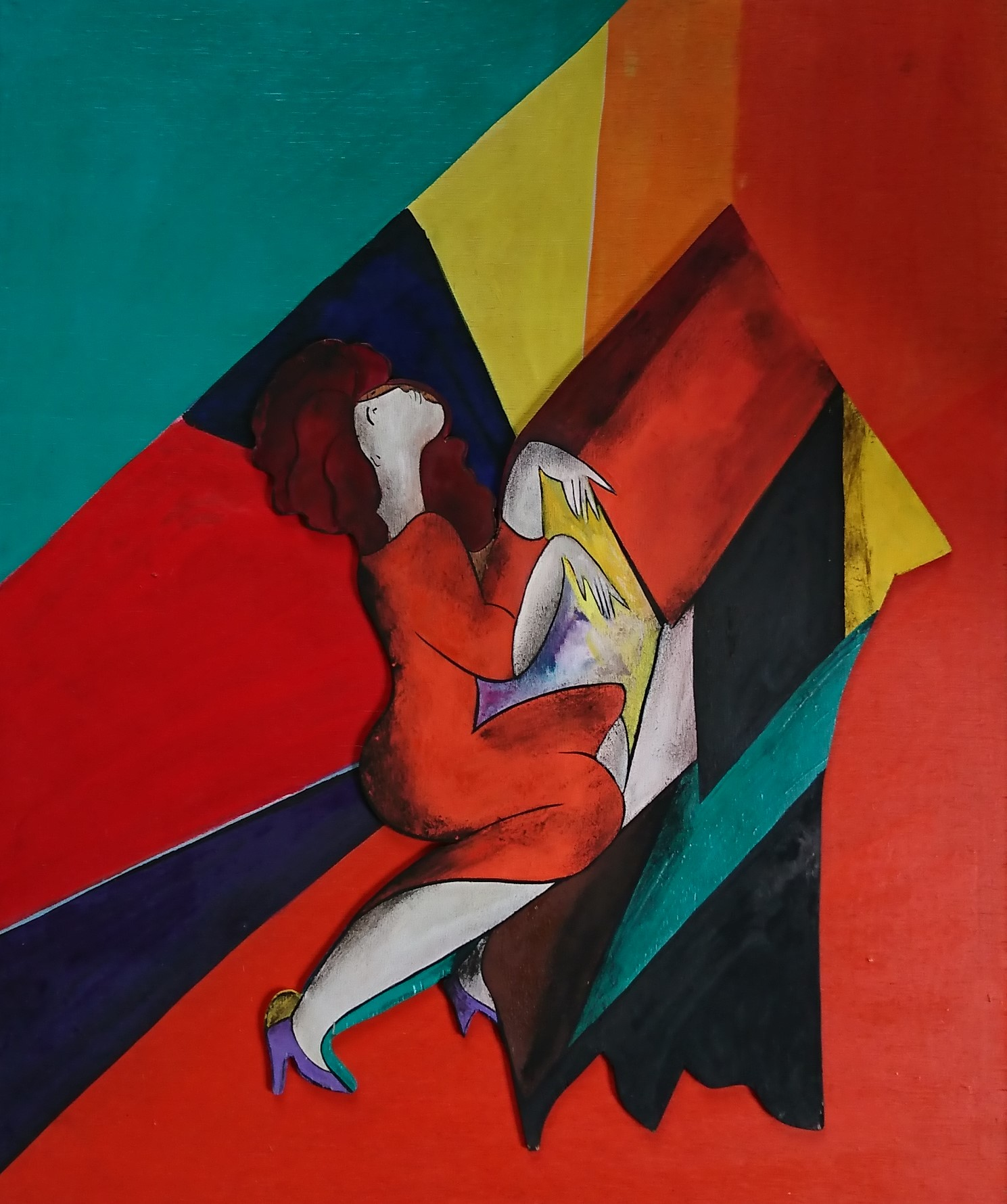 Piano forte. 15F. wood cut. 1997