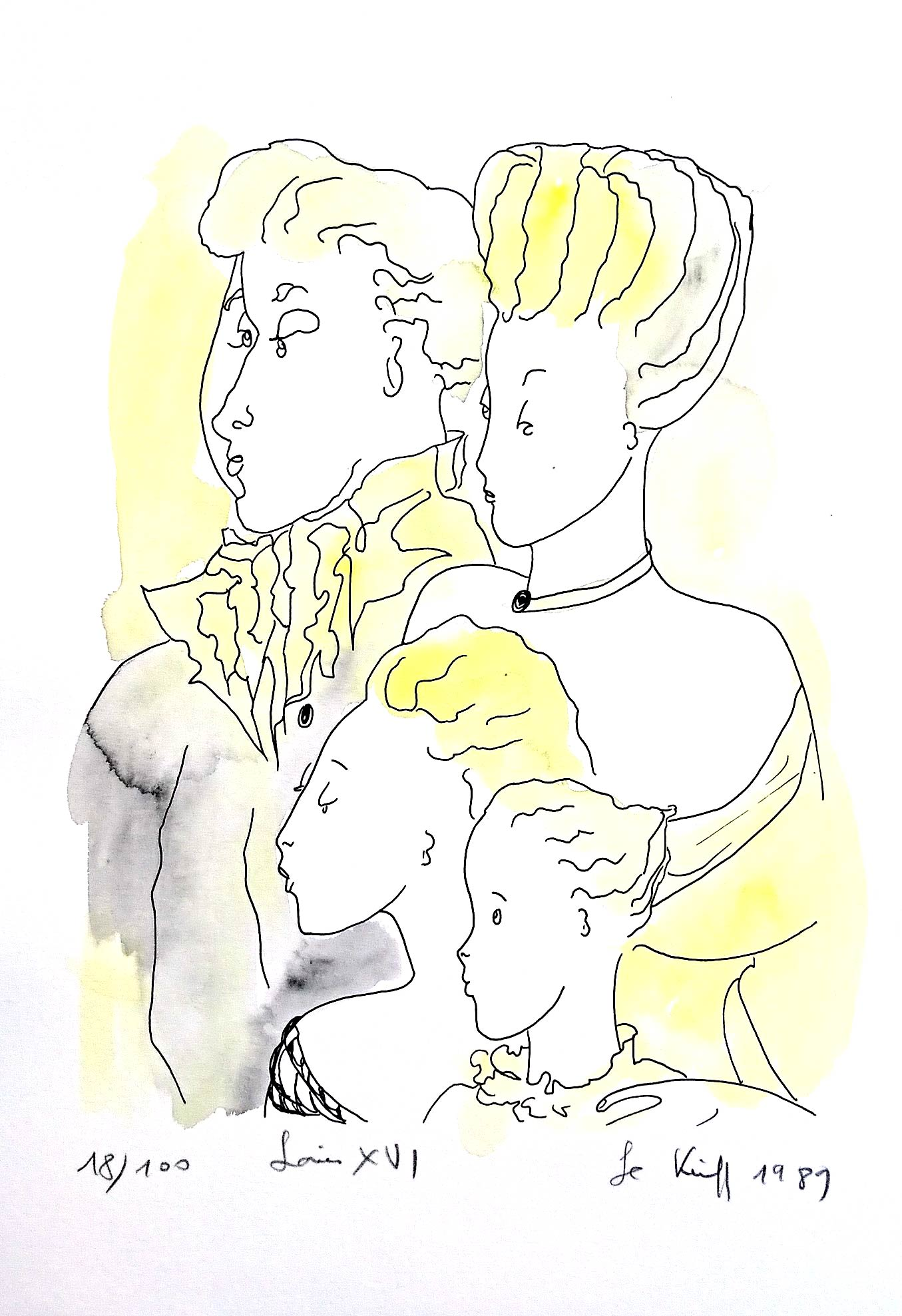 Louis XVI - Aquarelle - 1989