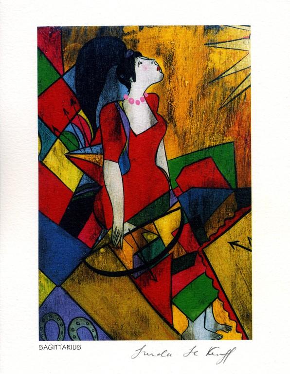 Sagittarius - Lithography - 1994 - Linda Le Kinff