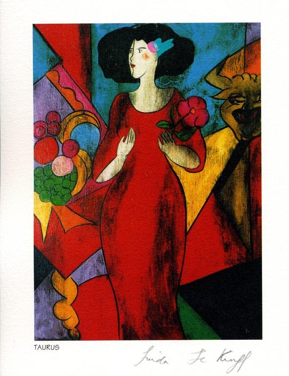 Taurus - Lithography - 1994 - Linda Le Kinff
