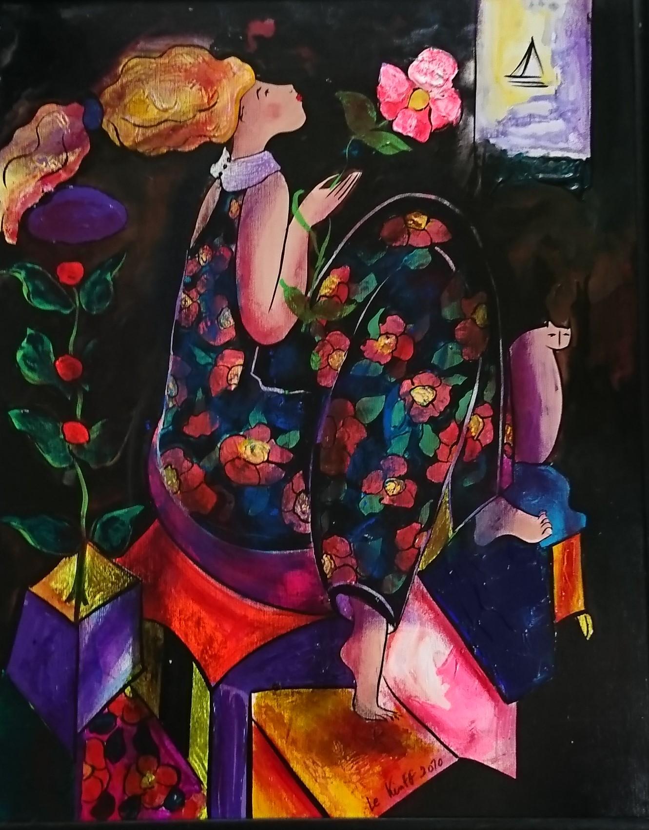 Rêve d_orient. 30F. canvas. 2010. Expo Liban