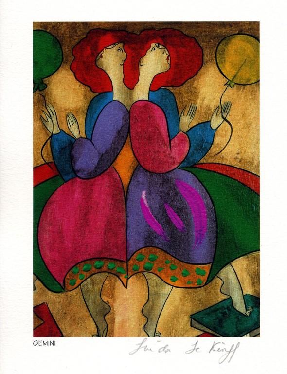 Gemini - Lithography - 1994 - Linda Le Kinff