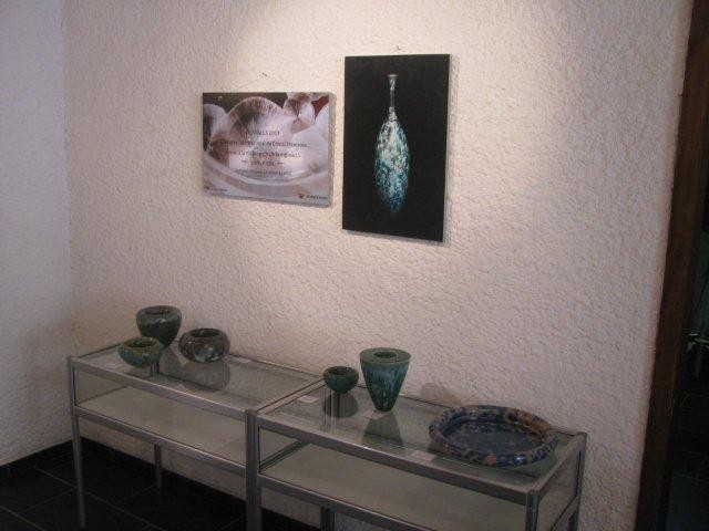 "Leukerbad, Switzerland, 2014, Expo ""Magie der Farben"" together with Ursula Fattorini and Gisela Gredig"
