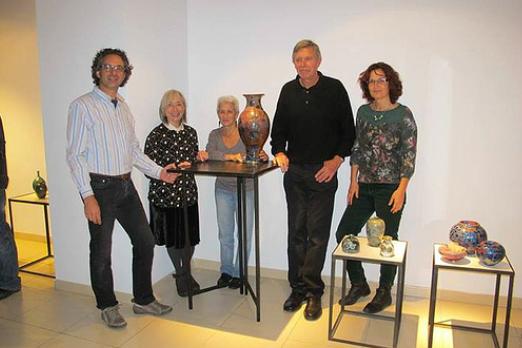 """Barcelona, España, 2013 , ACC,  Expo vencedores de competición de participantes en """"Cristalls 2013"""" Convención Mundial Cristales"""