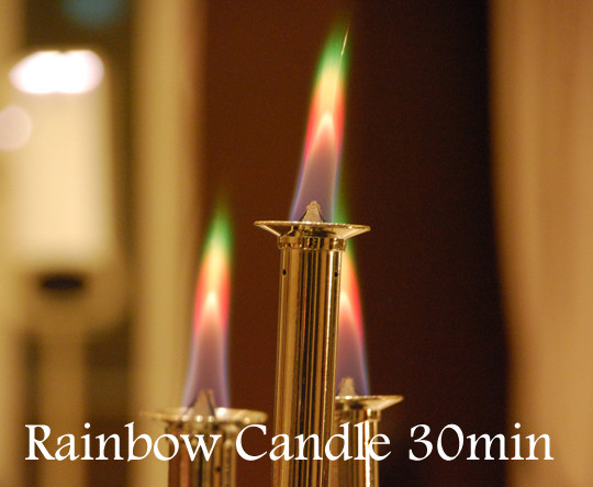 Rainbow Candle 4 minutes for diner