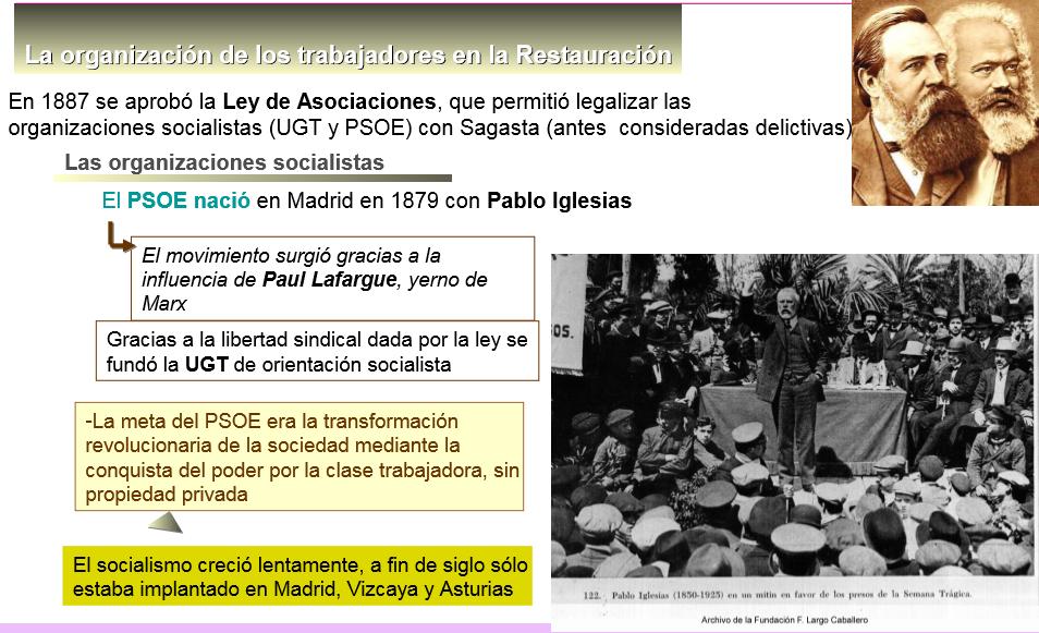 los movimientos sociales en la restauracion.